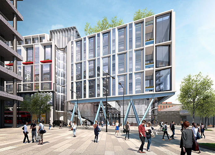 <p>The 1,000-foot-plus building, which is longer than the city's Shard skyscraper is tall, will be between six and 10 stories high, and will have retail units on the ground floor.</p>