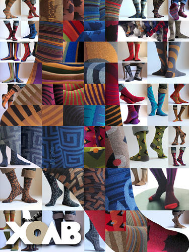 <p>XOAB's algorithm also allows for up to thirteen colors to be used per sock design. Most socks top out at six or seven.</p>