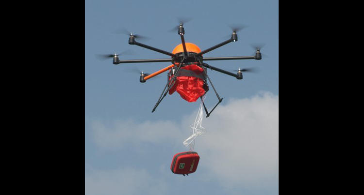<p>Definetz's drone, which was built by a company called Height-Tech, can travel up to six miles at a top speed of 43 miles per hour.</p>
