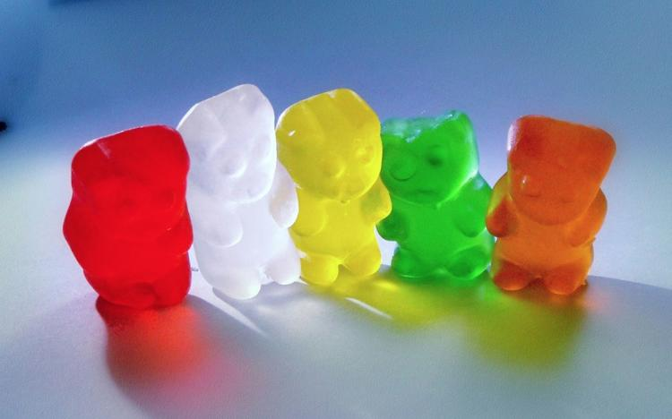 <p>Gummy bears...bouncing here and there and everywhere. It's rubbery, bouncy, rainbow-hued high adventure beyond compare.</p>  <p>Flickr user <a href=&quot;http://www.flickr.com/photos/rdexter/4673619029/&quot; target=&quot;_blank&quot;>Ree Dexter</a></p>