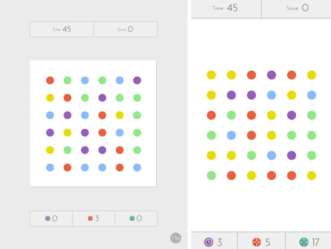 <p>Dots is a simple and well-designed game. How simple? All you have to do is connect as many same-colored dots as you can in 60 seconds. See? Easy. But maybe <em>addictive</em> is a better word for it.</p>