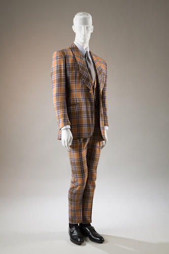 <p>Three-piece Neo Edwardian suit, originally worn by Bunny Rogers and now in the collection of Hamish Bowles.</p>