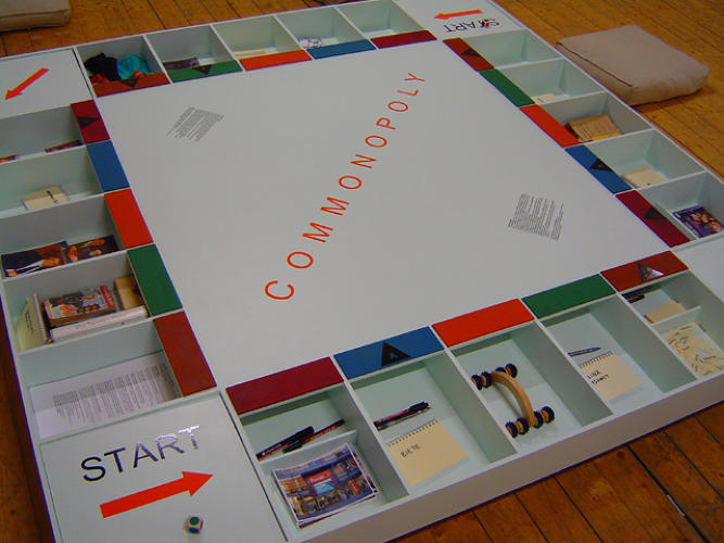 <p>&quot;Unlike Monopoly, the goal of Commonopoly is not the exhaustion, through monopolization, of a virtual stock of goods, but rather the expansion and preservation of a self-propelling sustainable system of recycling, production and distribution,&quot; the creators wrote.</p>