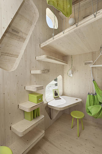 <p>Swedish housing regulations require student apartments to cover a minimum of 25 square meters, but Tengbom's cubes, designed for students at the University of Lund, are the first known exception.</p>