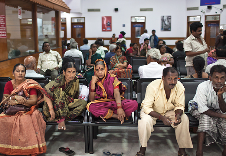 <p>The waiting room outside Bangalore. Shetty estimates that as many as 2.5 million people in India need heart surgery, but the treatment is still too expensive for most. The hospital group helps many of its patients through its micro-insurance program, the largest in the country.</p>