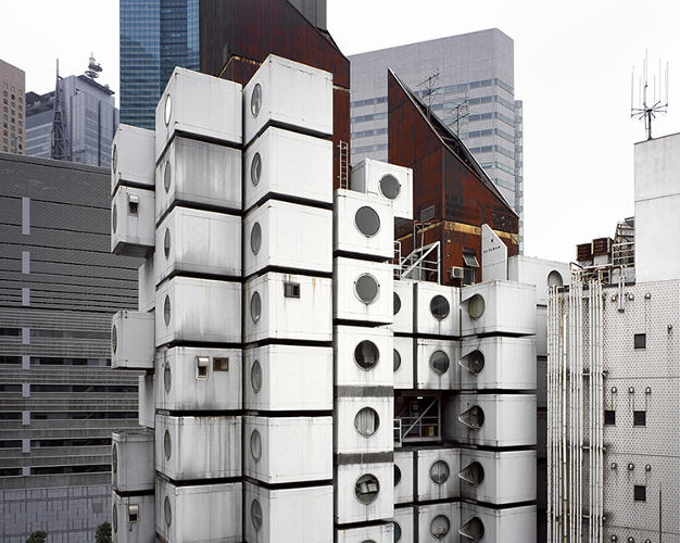 These photos of tiny futuristic japanese apartments show for Architecture suspendue