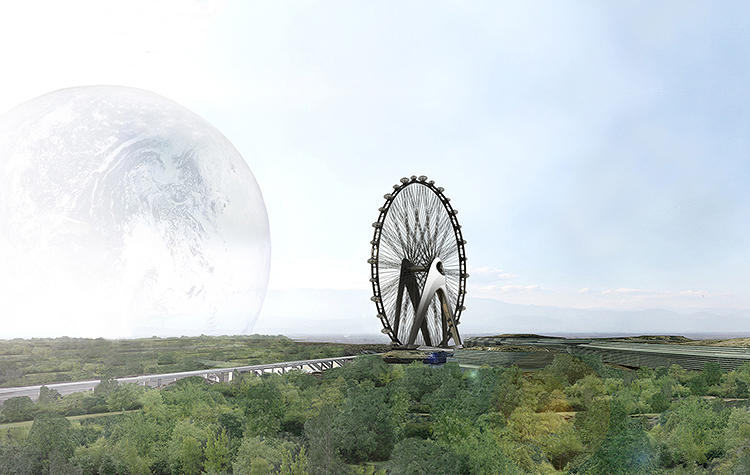 <p>Dutch architects UNStudio have unveiled plans for a Giant Observation Wheel (GOW) for a Japanese manufacturer; it will be twice the size of the London Eye.</p>