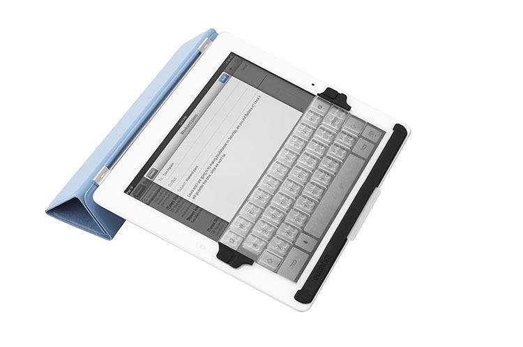 <p>The iPad mini's virtual keys were too small to be usable as physical buttons, so the Touchfire's designers stretched and squeezed certain keys in order to fit them comfortably over the touch screen.</p>