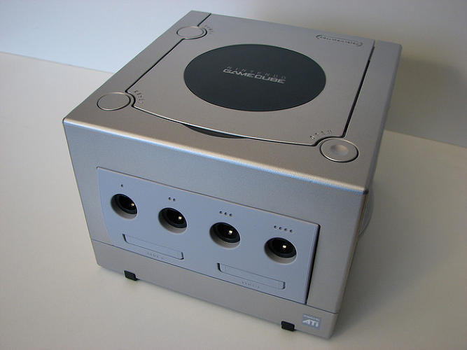 <p>Behold Nintendo's sixth-gen console, the Gamecube. Released in 2001, it went up against the Playstation 2, Xbox, and the Sega Dreamcast, and was the first Nintendo product to use optical discs for its game-storage system. [Image: Flickr user <a href=&quot;http://www.flickr.com/photos/goodrob13/3250017960/sizes/o/in/photolist-5Xcc7q/&quot; target=&quot;_blank&quot;>Ian Muttoo</a>]</p>