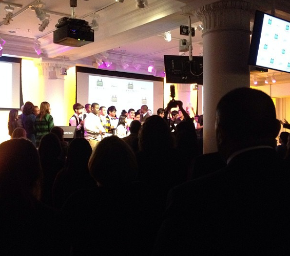 <p>The TechGen class of 2014 gets a standing ovation.</p>