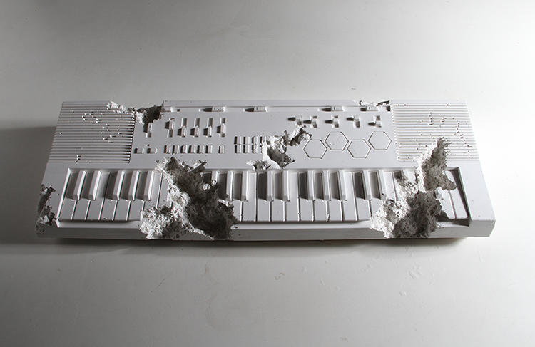 <p>The piece is a collaboration between Daniel Arsham and Pharrell Williams.</p>