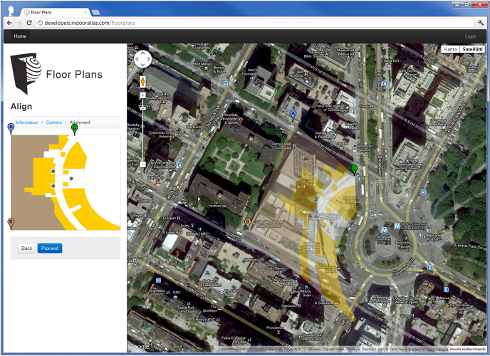 <p>A screenshot of IndoorAtlas on a PC.</p>