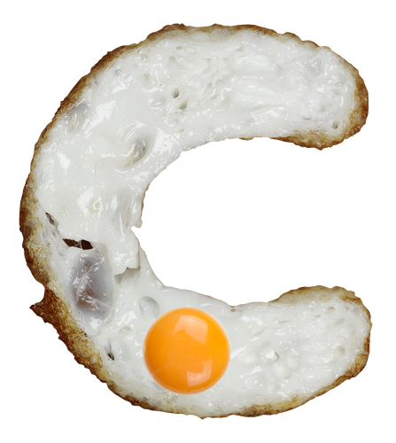 <p>They're real images--at least of the fried egg whites. The yolks appear to be Photoshopped in.</p>