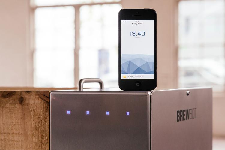 <p>Using an iPhone interface, home brewers can monitor the inner workings of their brew kit and tweak them remotely.</p>  <p>[<em>Image: <a href=&quot;http://www.brewbot.io/&quot; target=&quot;_blank&quot;>Brewbot</em></a>]</p>