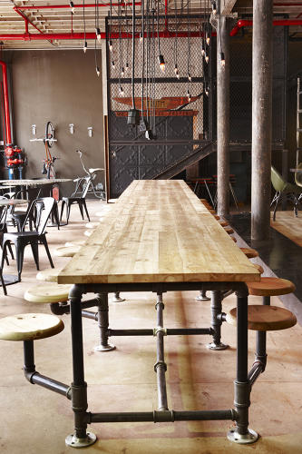 <p>Martin says he pitched the steampunk theme to Truth coffee's founders, who loved the idea so much that they helped build much of the shop's wares.</p>