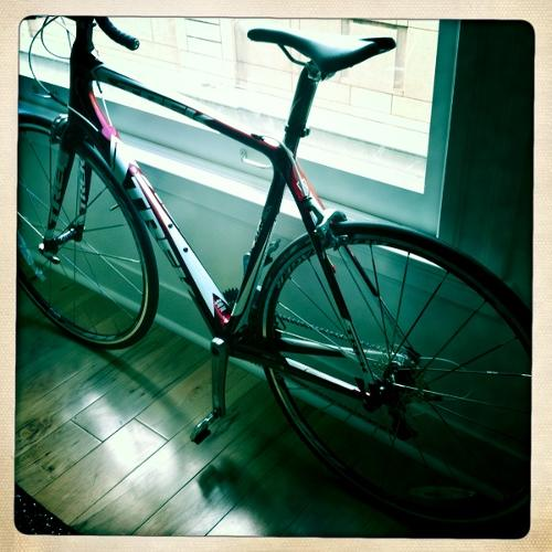 <p>A gift from a friend, a cyclist, who, even in retirement remains the most inspiring, fearless, and driven person I've ever met. Riding this puts everything in perspective. Residence, San Francisco</p>