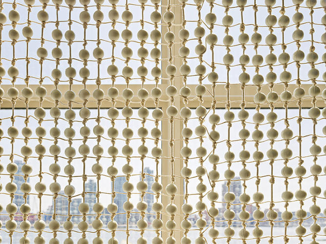 <p>Jongerius's contributions are the most striking, including a design for the east facade curtain that's made of 30,000 porcelain beads.</p>
