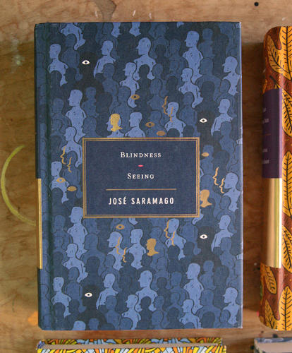 <p>Cover to José Saramago's <em>Blindness</em> and <em>Seeing</em></p>