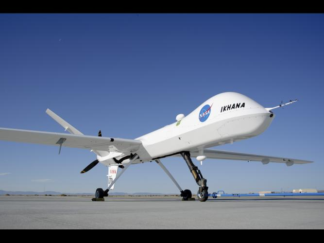 <p>The Ikhana is a converted Predator B drone used for Earth science research and aeronautical technology development.</p>