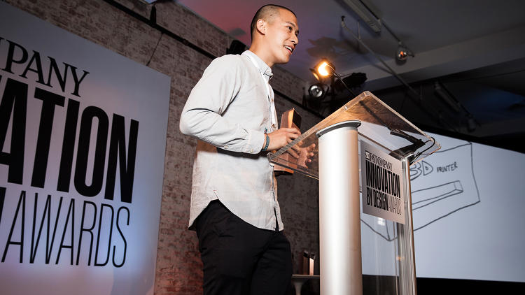 <p>Jason Chua, SparkTruck, winner of the student design award.</p>