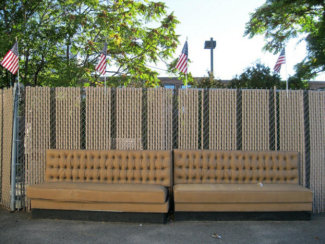<p><em>Camouflaged Couch</em> in Somerville, Mass.</p>