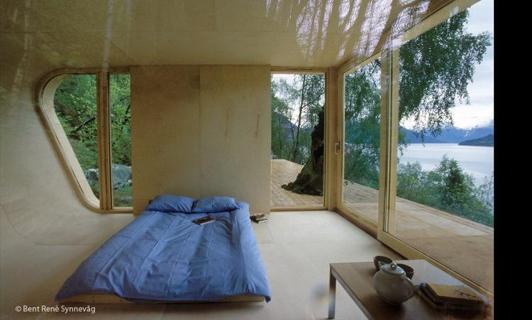 <p>Off-the grid, minimalistic, and experimental retreat built from on-site wood along one of Norway's infamous fjords by Todd Saunders and Tommie Wilhelmsen.</p>