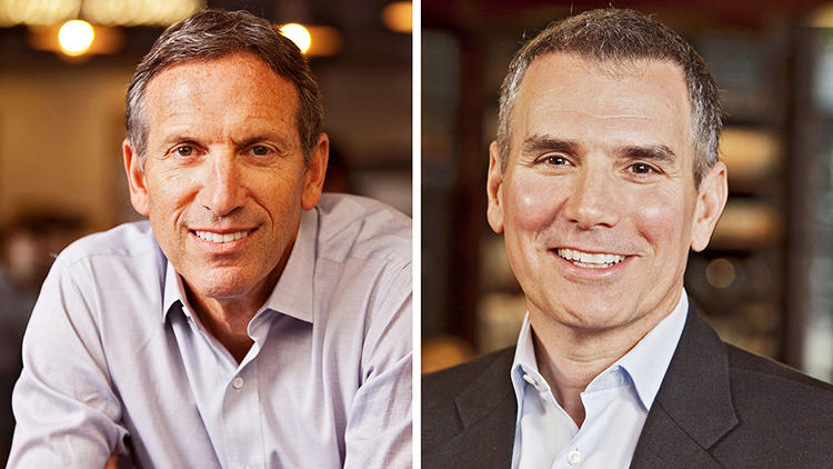 "<p>Howard Schultz, chairman and CEO<br /> Arthur Rubinfeld, president of global development and chief creative officer<br />  <br /> These kings of coffee share a brotherly bond--""I. Love. Him."" says Schultz of Rubinfeld, praising his ""curiosity quotient,"" the ability to see the big picture first. The duo met in their early 20s and share design smarts that have taken the brand global (they're the reason ""tall"" now means ""small""). Another example of their sixth-sense strategies--Rubinfeld insists that all Starbucks tables be round because square tables make solo patrons feel lonelier.</p>"