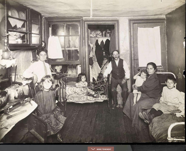 <p>High-rise living doesn't always mean modern luxury, as this snapshot inside a Lower Manhattan tenement building shows.</p>