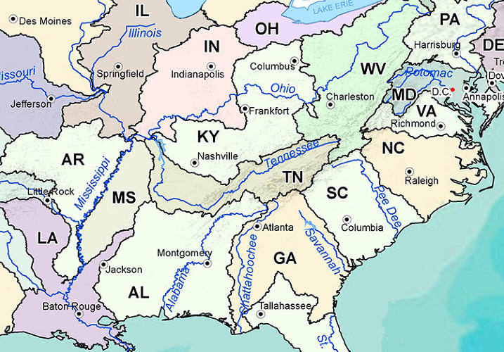 <p>In 1879, Powell proposed that &quot;as the Western states were brought into the union they be formed around watersheds, rather than arbitrary political boundaries.&quot;</p>