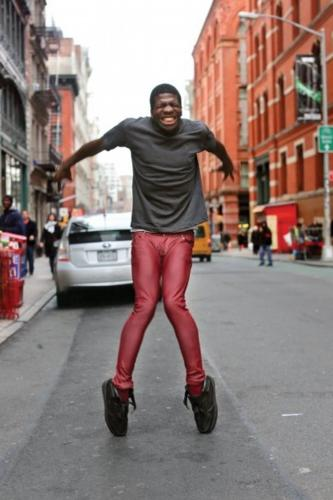 <p>&quot;This guy was dancing for tips on the sidewalk.  I asked him to try and put all his skill into a single move, and this is what I got.&quot; (AP Photo/St. Martin's Press, Brandon Stanton)</p>