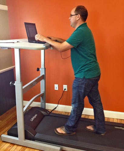 <p>Chad Campbell is a digital marketing strategist at SilverTech. Yes, he is wearing flip flops in that shot but notes that he set a slower pace so he didn't walk out of them.</p>