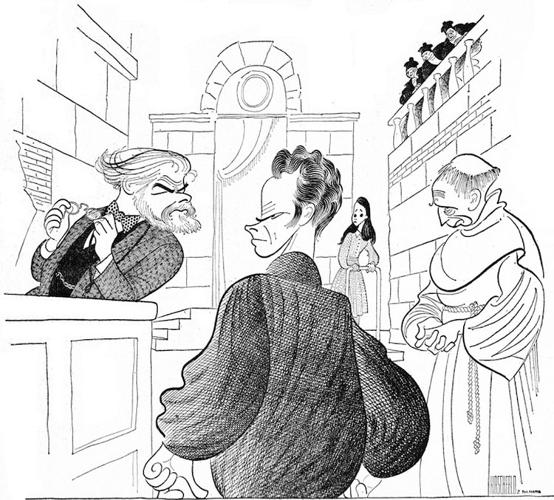 <p>Curator David Leopold is arguably the world's greatest Hirschfeld expert--as the artist's archivist for 18 years, he no doubt knows Hirschfeld's body of work more intimately than anyone else. <em>Daughter of Silence</em>, 1961. With Emlyn Williams, Rip Torn, Janet Margolin and William Hansen.</p>