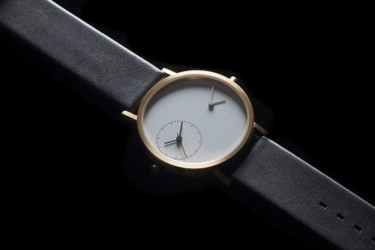 <p>This wristwatch, by Kitmen Keung, keeps two times: one for your locale and one for another time zone.</p>