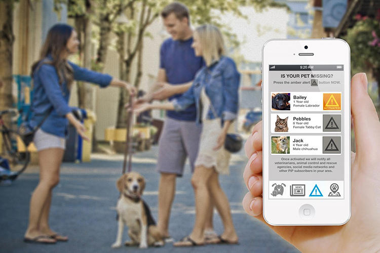 <p>Then, if Fido ever goes missing, you can send out an alert to vet clinics, animal shelters, municipal control agents and fellow subscribers within a 15-mile radius.</p>