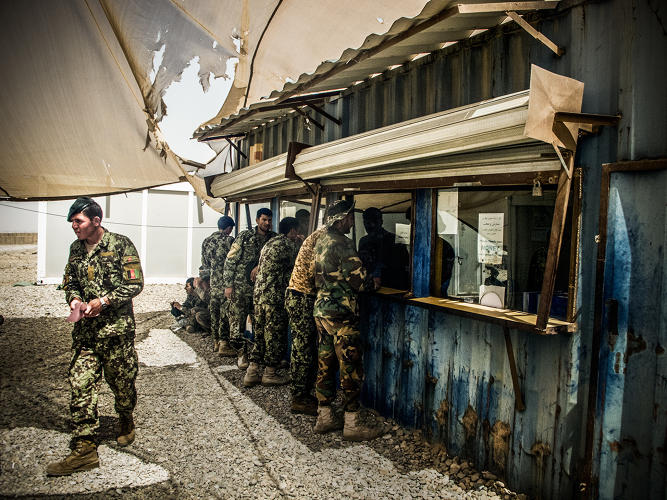 <p>More images from Camp Garmsir's makeshift--but impactful--bank.</p>
