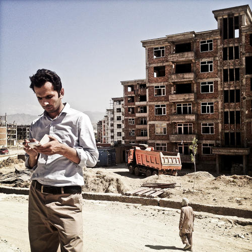<p>The lead engineer overseeing the project, Khaaja Rawaash Township.</p>