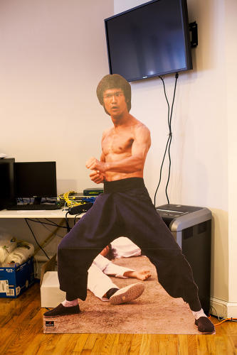 <p>Bruce Lee will &quot;show you in.&quot;</p>