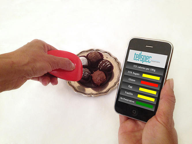 <p>The TellSpec can reportedly calculate all the calories, ingredients, chemicals, and allergens in any given piece of food.</p>