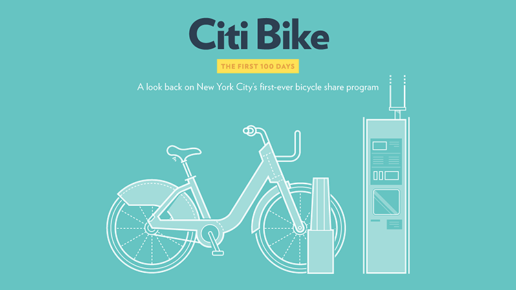 <p>In a quest to demystify, contextualize, and evaluate New York's massive bike share program, two designers have taken the first 100 days of public Citi Bike data and began making graphics with them.</p>