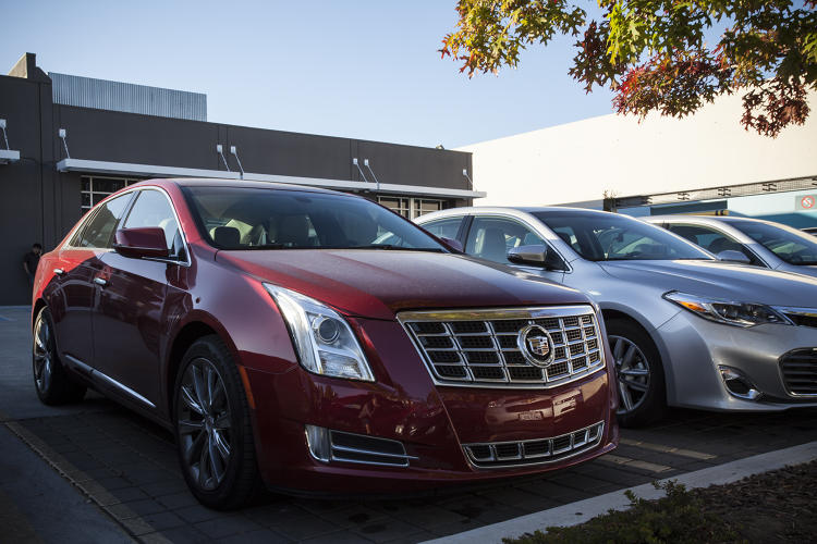 <p>James's company car, a Cadillac XTS 6. &quot;Once you start driving cars with a lot of power and do exactly what you tell them to, it's like, oh my gosh, it's so incredible,&quot; says James.</p>