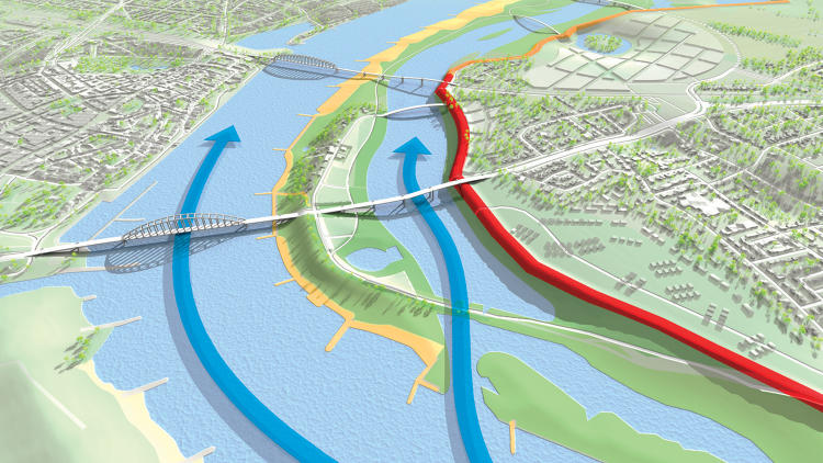 <p>Carving a new channel for the River Waal will transform the city of Nijmegen--and make it safer.</p>