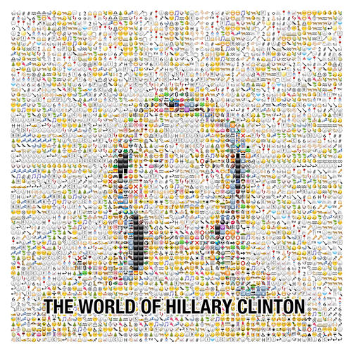 <p>Hillary Clinton is radiant in emoji.</p>