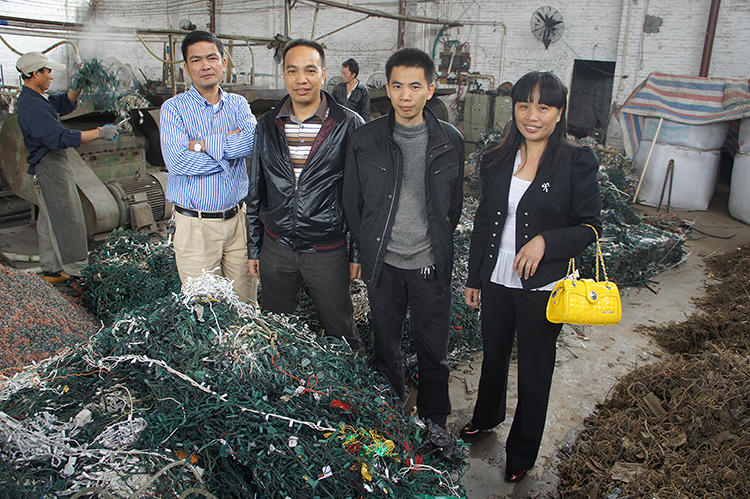 <p>Raymond Li's <a href=&quot;http://shanghaiscrap.com/2013/09/scenes-from-a-junkyard-planet-its-like-christmas/&quot; target=&quot;_blank&quot;>Christmas tree light recycling factory</a>, capable of handling 1 million pounds a year.</p>