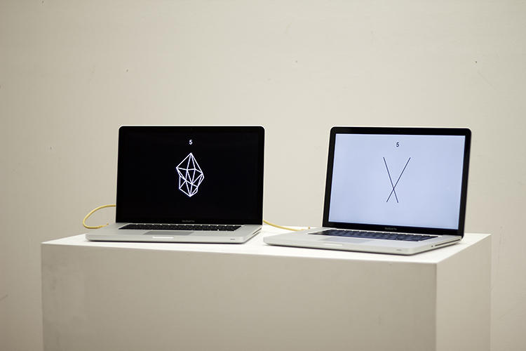 <p>Two MacBooks locked in a room with each other play Rock-Paper-Scissors forever.</p>