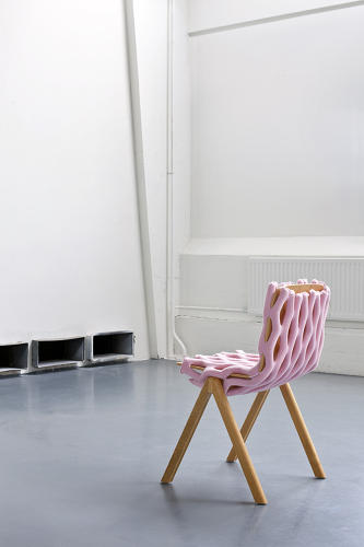 <p>The Bernotat &amp; Co team hope to inspire re-use, giving new life to old chairs so people don't feel the need to replace them. Knit-Net, here, is arguably the least functional but most comfortable item in the line.</p>