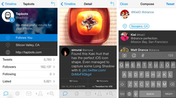 <p>The amount of people who use Twitter on Twitter (literally twitter.com) is dwindling. Tweetbot is a fantastic alternative with switchable timeline views and customizable features that will leave you cringing at the sight of a single stream of tweets. (<a href=&quot;https://itunes.apple.com/us/app/id722294701?mt=8&quot; target=&quot;_blank&quot;>iOS</a> and <a href=&quot;http://tapbots.com/tweetbot_mac&quot; target=&quot;_blank&quot;>web</a>)</p>