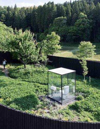 <p>Billed as &quot;the world's largest toilet,&quot; the lavatory has glass walls, surrounded by gardens.</p>
