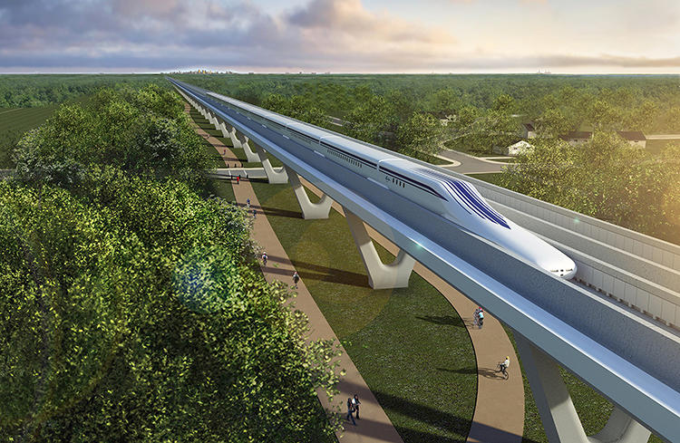 <p>The Northeast Maglev company is pursuing a plan to create a high-speed route between New York and D.C. using a train that levitates on magnets.</p>