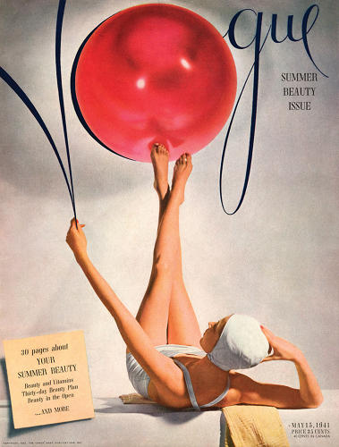 <p>Liberman designed this 1941 cover for <em>Vogue</em>, featuring a swim-capped bathing beauty photographed by Horst P. Horst.</p>