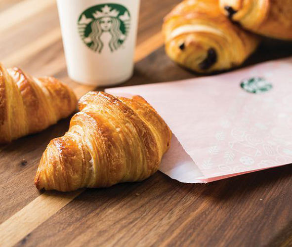 "<p>Innovations that La Boulange products offer for Starbucks include the ""laminate dough,"" or the layered dough found in a fine croissant, and the expansion into savory croissants.</p>"